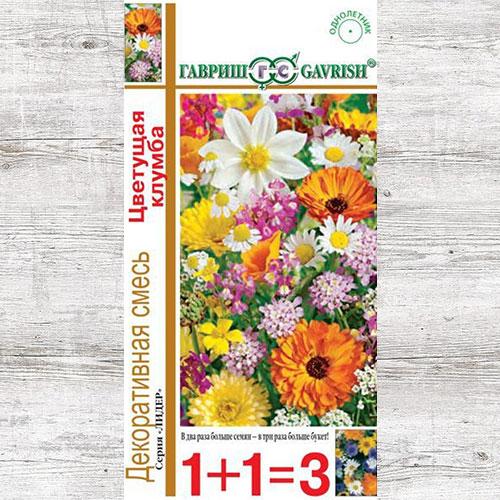 Декоративная смесь Цветущая клумба, смесь окрасок Гавриш изображение 1 артикул 65950