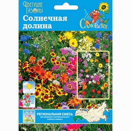 Газон цветущий Солнечная долина, смесь окрасок Русский огород НК изображение 1 артикул 66188