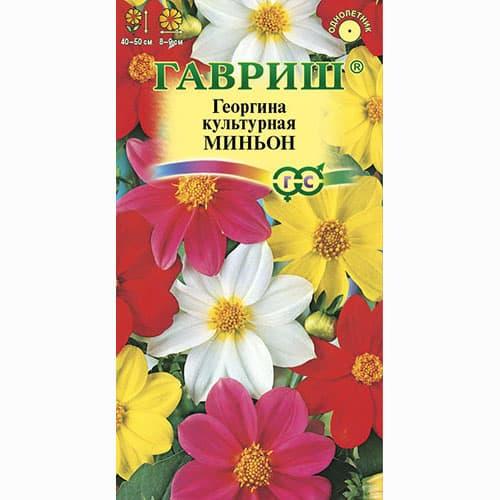 Георгина Миньон, смесь окрасок Гавриш изображение 1 артикул 66059