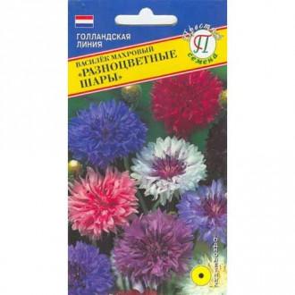Василек Разноцветные шары, смесь окрасок Престиж изображение 3
