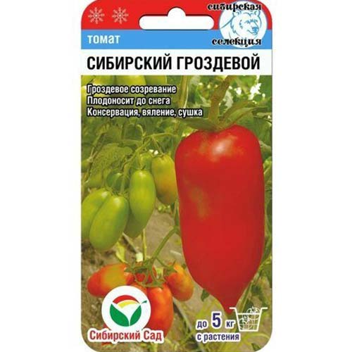 Томат Сибирский гроздевой Сибирский сад изображение 1 артикул 65410